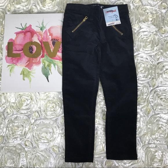 92e57e26cc8 Cat   Jack velvet black skinny jeans girls size 4